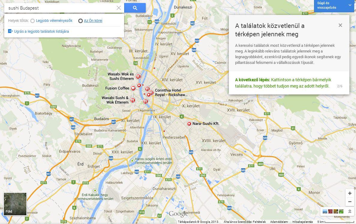 google terkep Megújult a Google Térkép